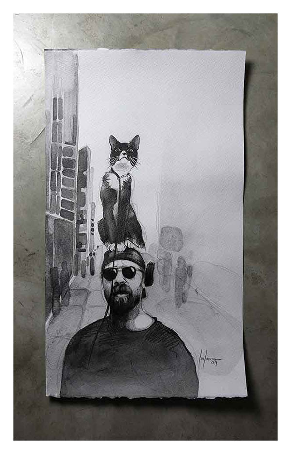 Man&Cat + Backpiece