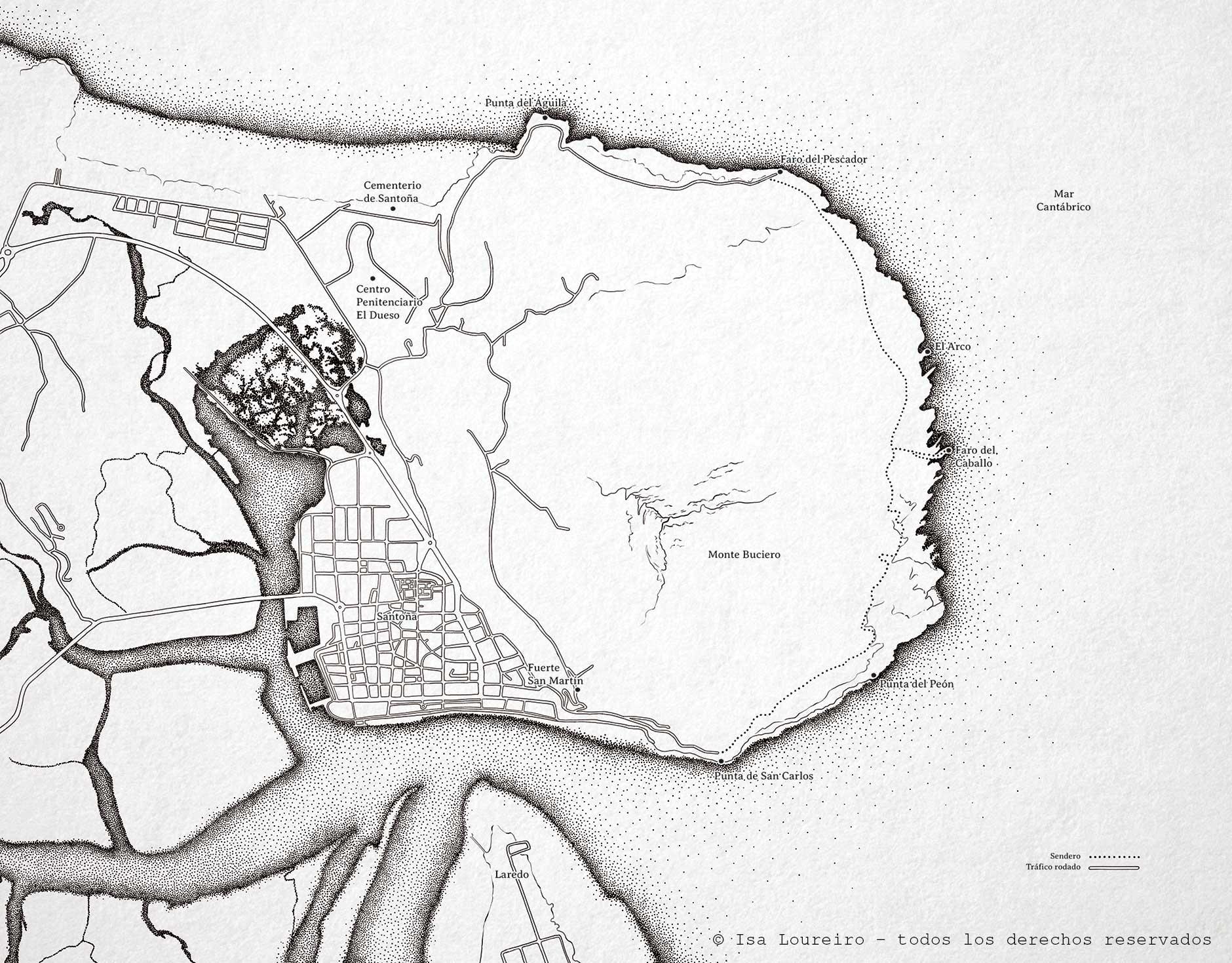 Mapa_Monte_Buciero_isaloureiro